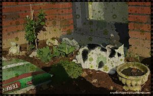 CaturdayArt2016-04-16_greenflowers